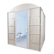 12 Person Commercial Acrylic Steam Room DG12BC Floor Plan