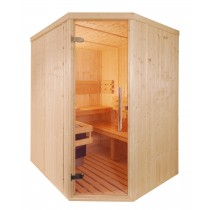 3 Person Traditional Corner Door Sauna - D2030