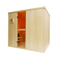 4 Person Oceanic Traditional Home Sauna Foor plan
