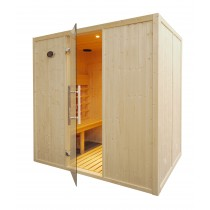 IR2030 Infrared Sauna Cabin Parallel Benches