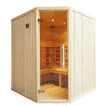 IR2525 Infrared Sauna Cabin L Bench & Corner Door