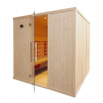 IR3030 Commercial InfraRed Sauna Cabin L Benches
