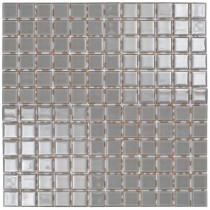 Light Grey Glass Mosaic 295 x 295mm