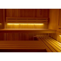 Sauna backrest LED linear lighting