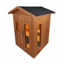 Outdoor Sauna Model E3030 technical drawing