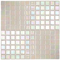 Pearl White iridescent - Soft Edge 320 x 320mm