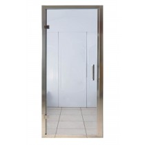 850 x 1850mm Steam Room Door Chrome