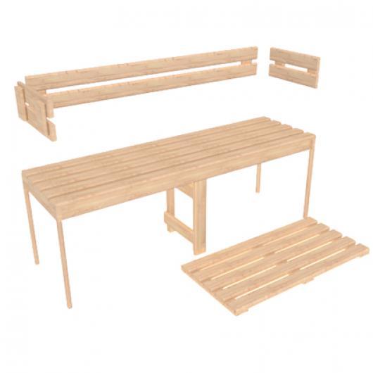 Sauna Wood, Bench Kits and Parts