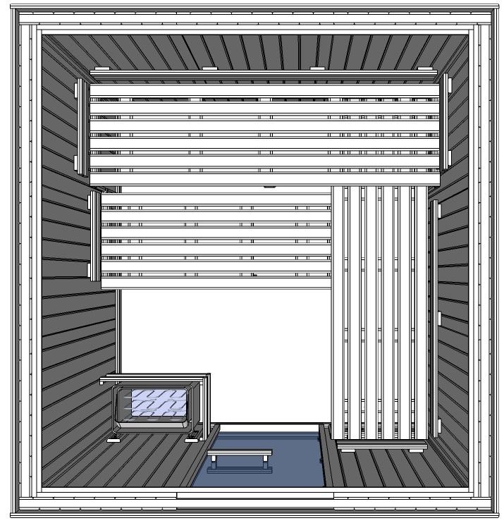 C3030 6 slat bench floor plan