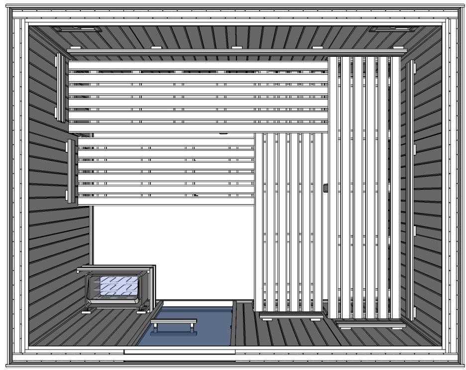C3040 6 Slat bench floor plan