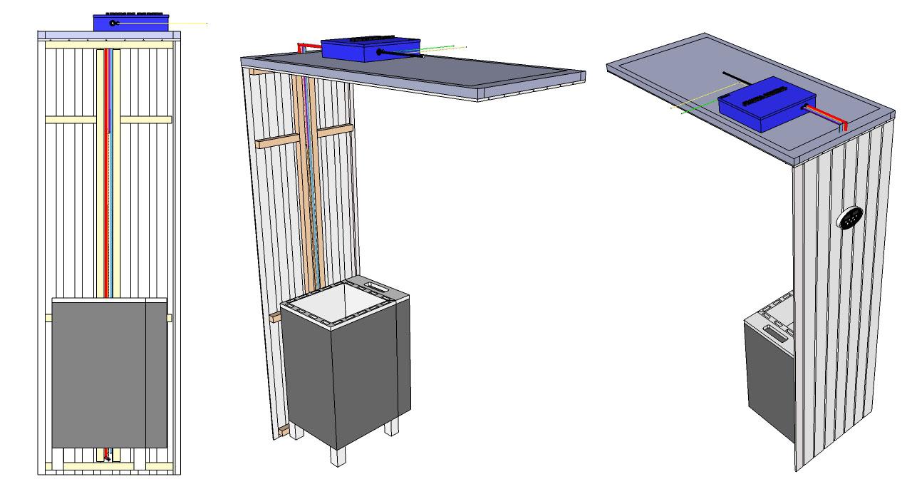 Apollo Sauna Heater with steam generator wiring example