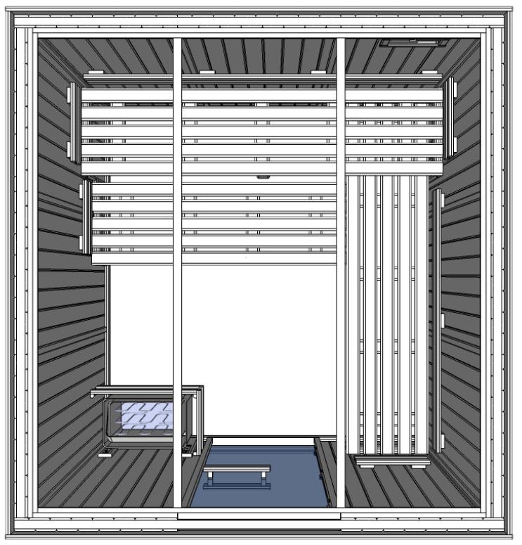 C3030 5 slat bench floor plan