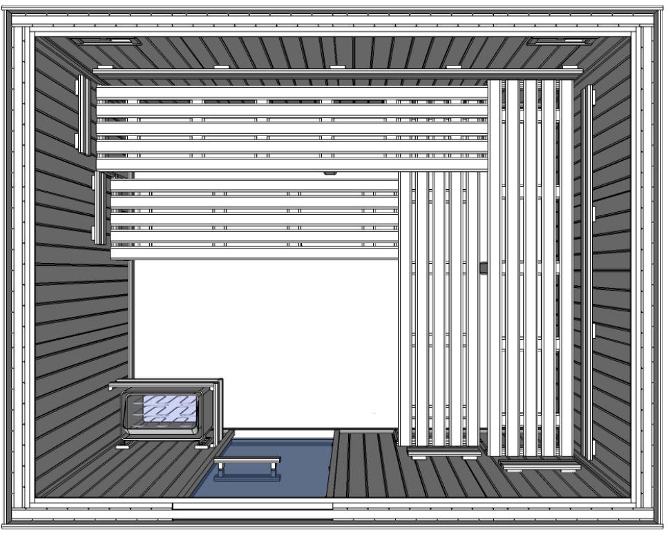 C3040 5 Slat bench floor plan