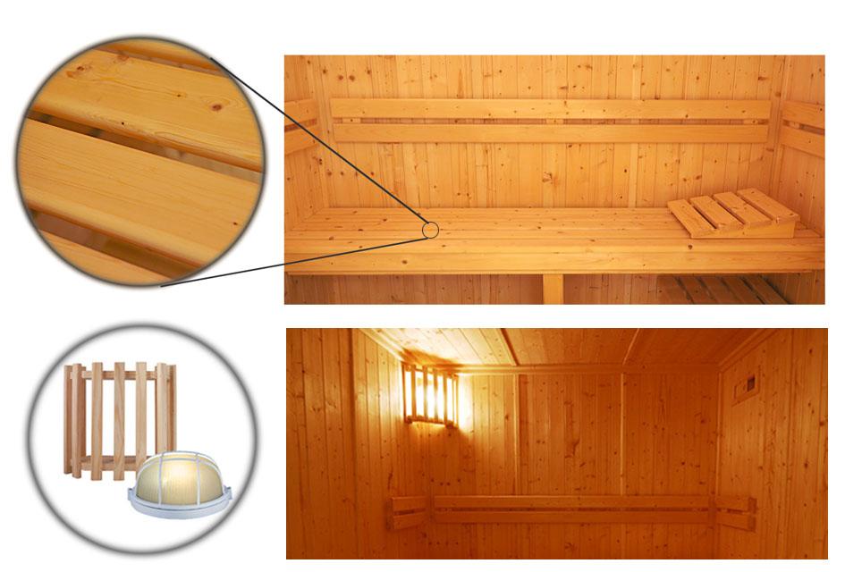Oceanic Saunas Celebration Specification sauna interior