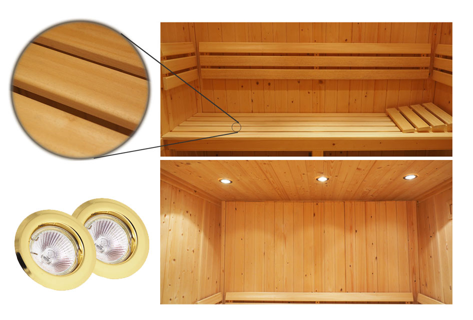 Oceanic Saunas Deluxe Specification sauna interior