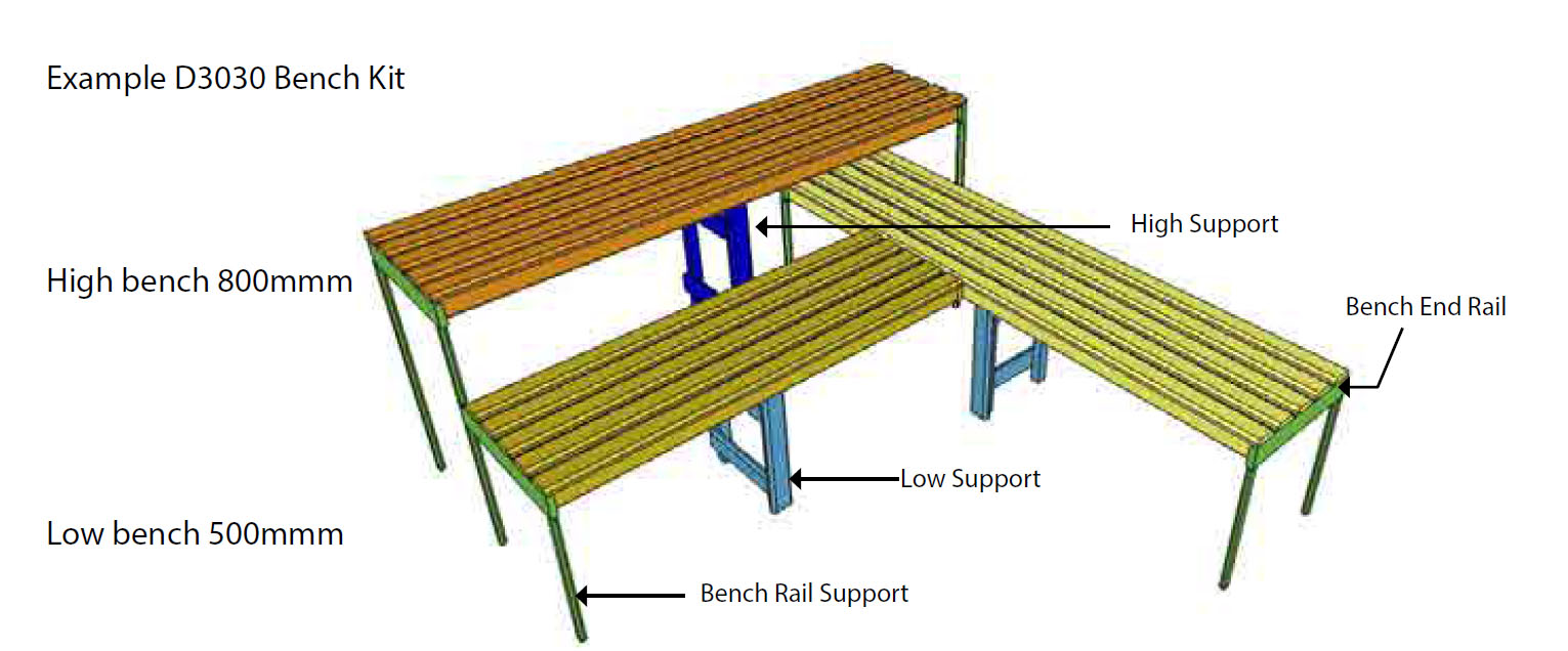 Oceanic Sauna Bench kit example