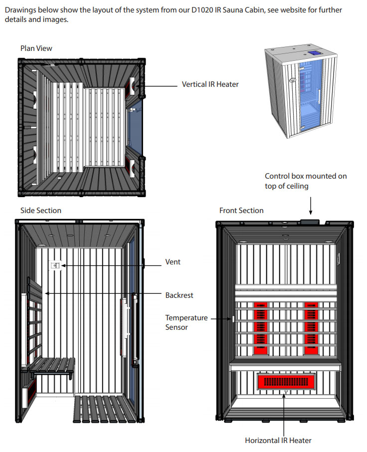 Infrared Sauna Heater Sauna Cabin Design