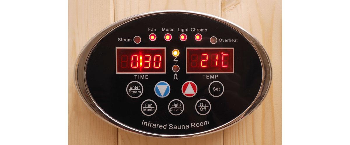 Oceanic Infrared Sauna Key Pad