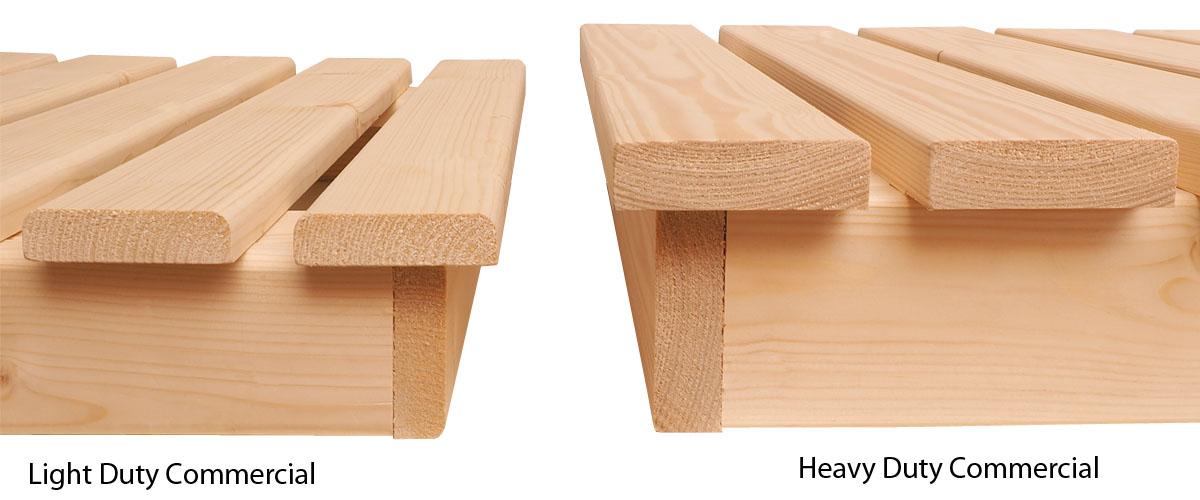 Oceanic heavy duty commercial sauna bench comparison
