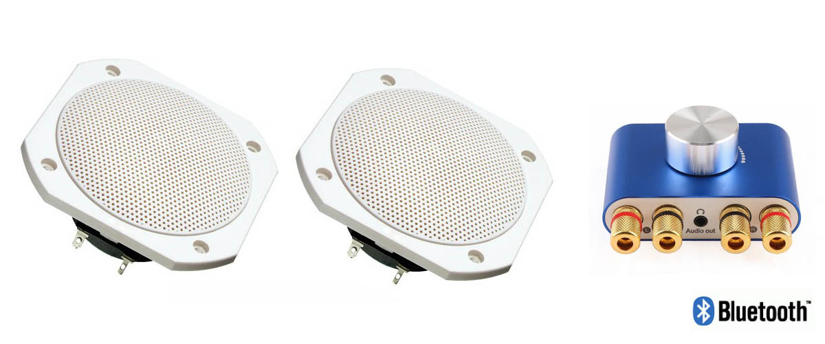 120°C High temperature waterproof IP65 sauna speakers with Bluetooth