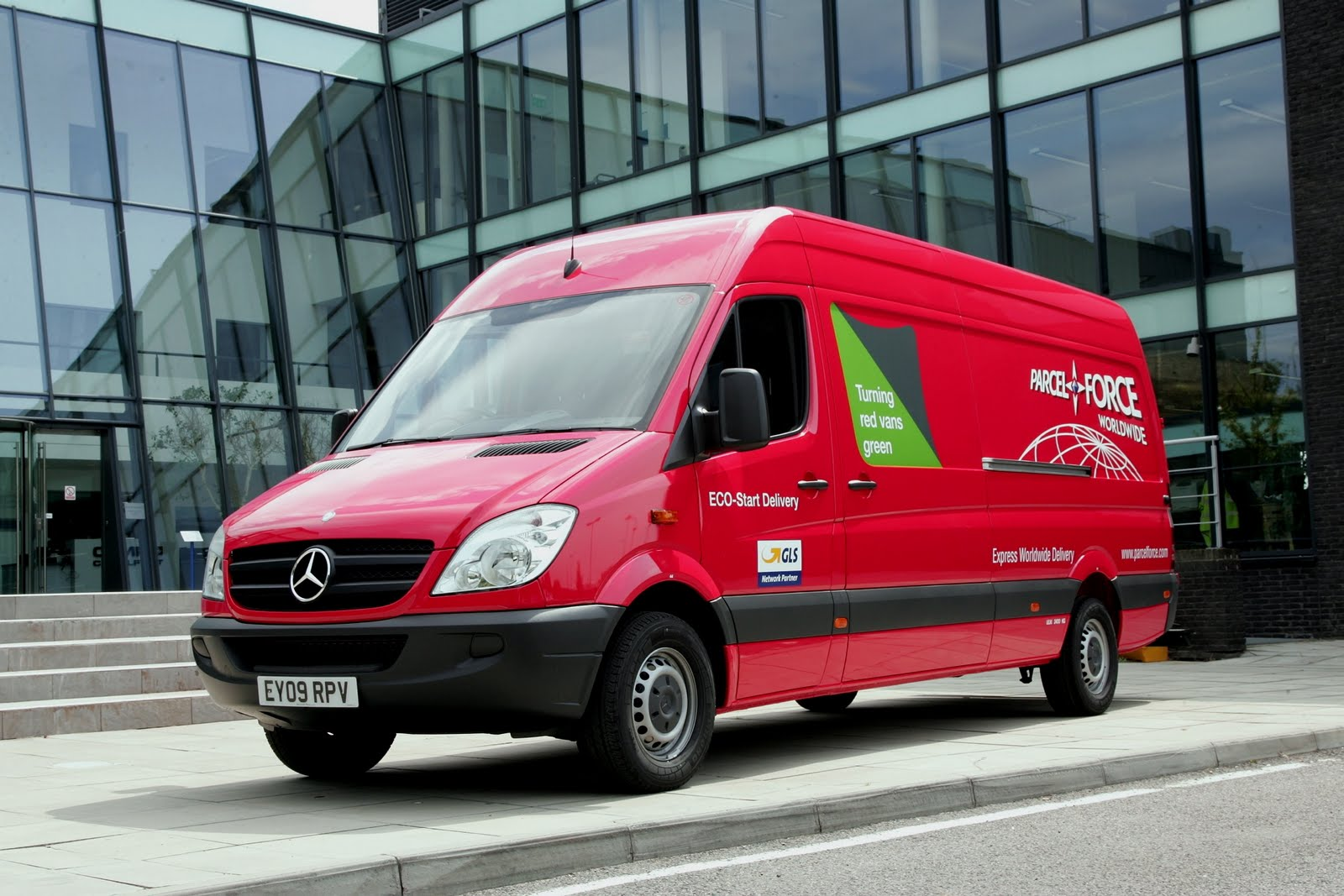 Parcelforce Van