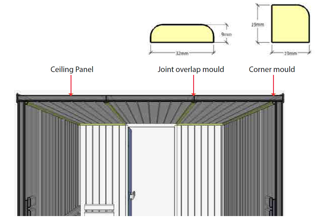 Sauna joint overlap mould