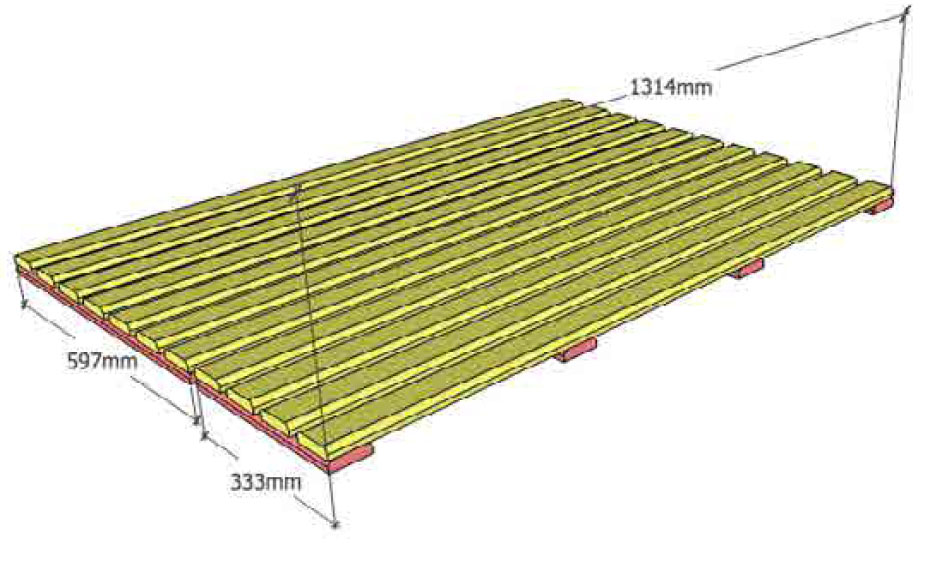 Sauna floor mat example