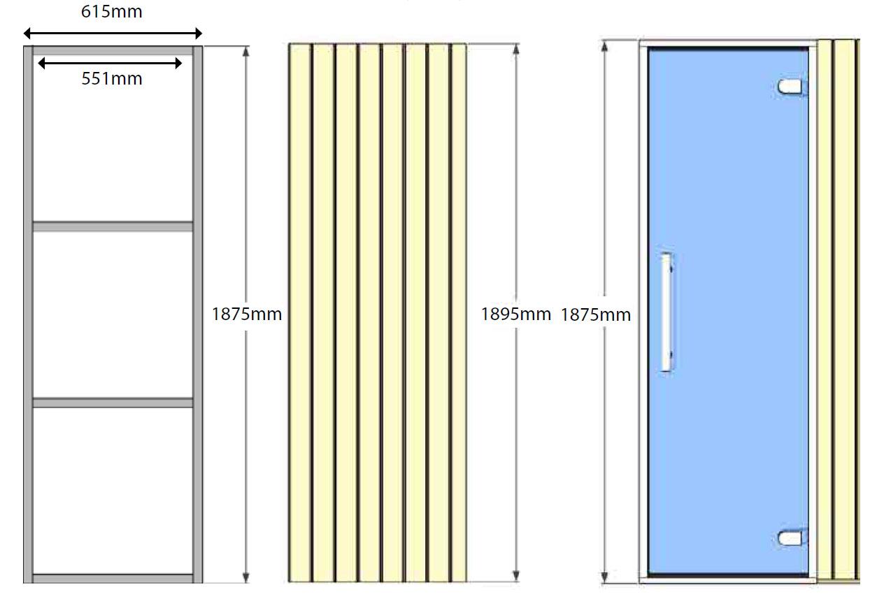 Oceanic Sauna panel internal frame