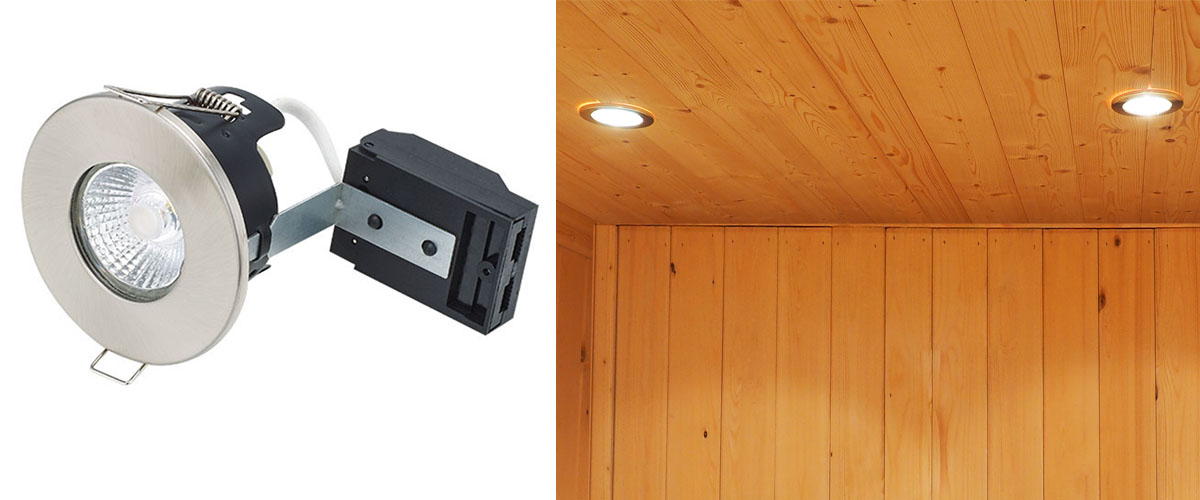 Sauna 12v fire rated down lights white