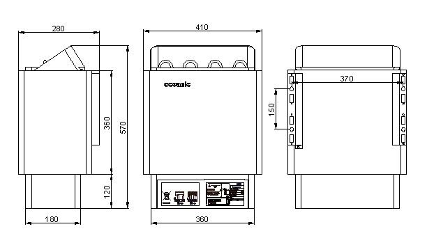 6Kw Sauna Heater with Digital Remote Controls Oceanic Saunas UK on sauna lighting, sauna heater diagram, sauna wiring circuit, sauna cabinet, sauna dimensions,